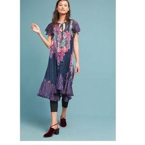 NWT Anthropologie Loren Flutter-Sleeve Swing Dress